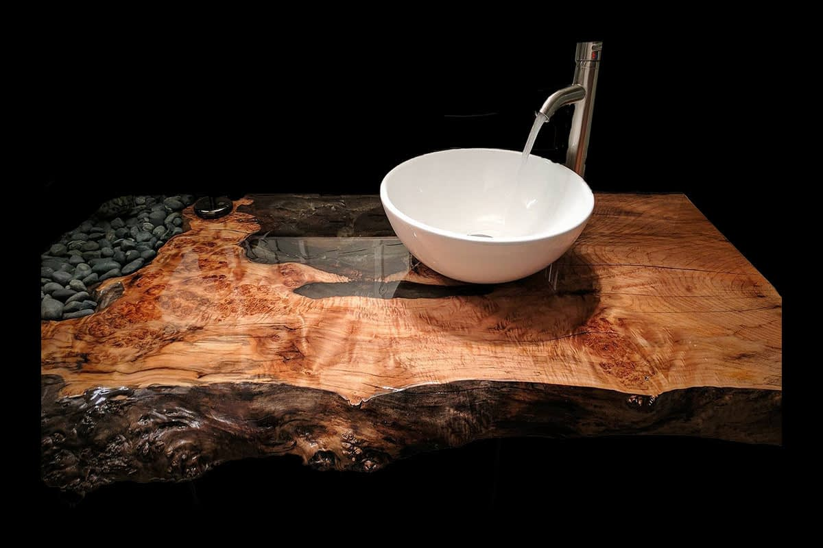 Click here for more information on our bathroom countertops.